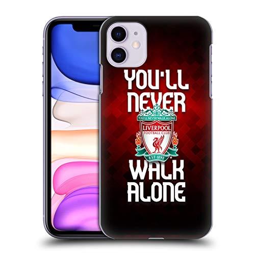 Head Case Designs Offizielle Liverpool Football Club Rot Pixel Simpel Crest Du Wirst Niemals Alleine Gehen Harte Rueckseiten Handyhülle Hülle Huelle kompatibel mit Apple iPhone 11