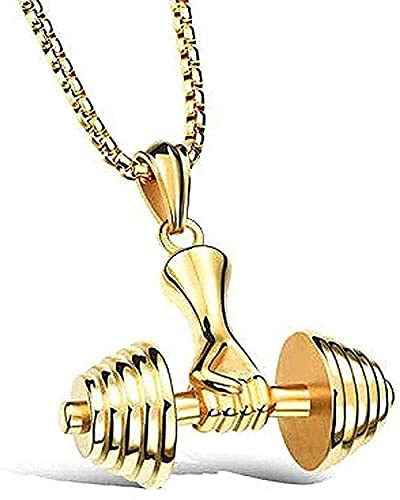 WYDSFWL Collares Collar de joyería de Moda Collar de Pareja Collar con Colgante con Mancuernas para Hombres y Mujeres Collar de Regalo