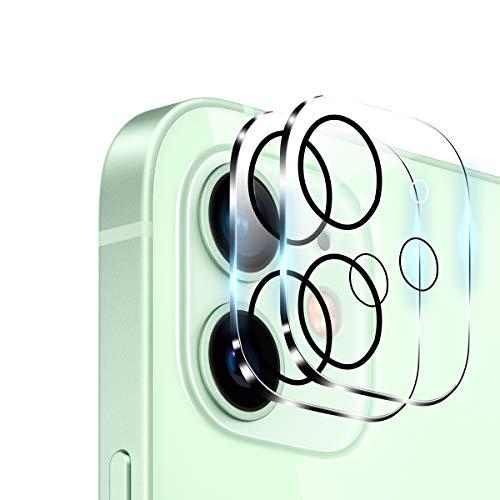 【2枚入】iPhone12 mini 用 カメラフィルム Aerku 旭硝子製 For iPhone 12 mini 2眼レンズ保護フィルム 9H硬度 飛散防止 透過率99.9% 気泡防止 ラウンドエッジ加工 iPhone 12 mini 対応(5.4 インチ)