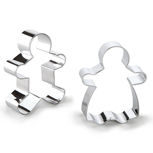 Bakerpan Stainless Steel Cookie Cutter Gingerbread Boy & Girl Set (BOX)