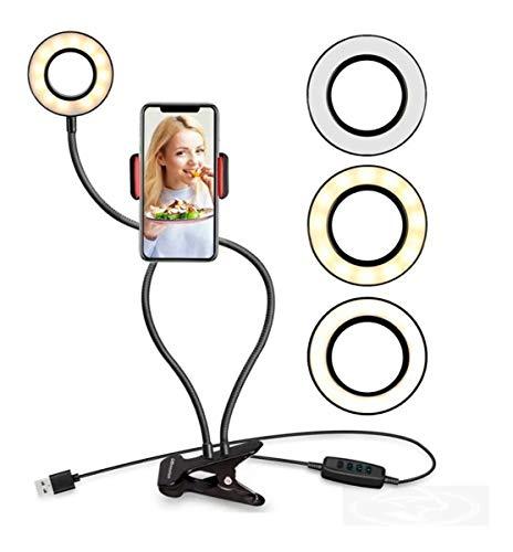 Iluminador Usb Ring Light Fotografia Kit Youtuber Celular Microfone