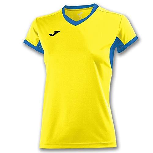 Joma Champion IV Camisetas Equip. M/C, Mujer, Amarillo-Royal, 2XL