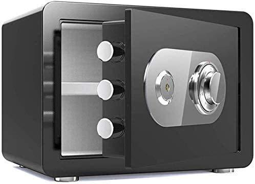 AnQna Digital Elektronischer Safe Schrank feuersicheren Tresor Medium Size Sicherheit Tresor Solide Stahlkonstruktion for Schmuck Bargeld Valuables Dokumente (Color : Black)