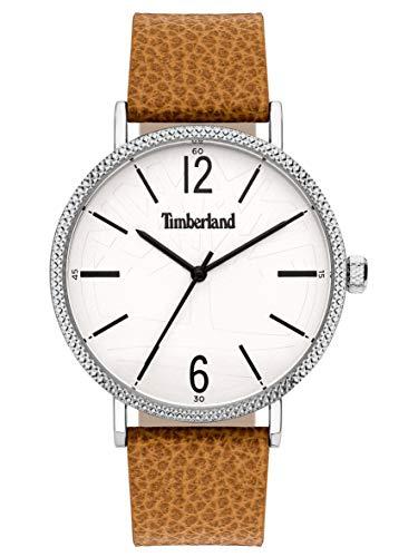 Timberland Reloj Analógico para Hombre de Cuarzo con Correa en Cuero TBL15636JYS.01