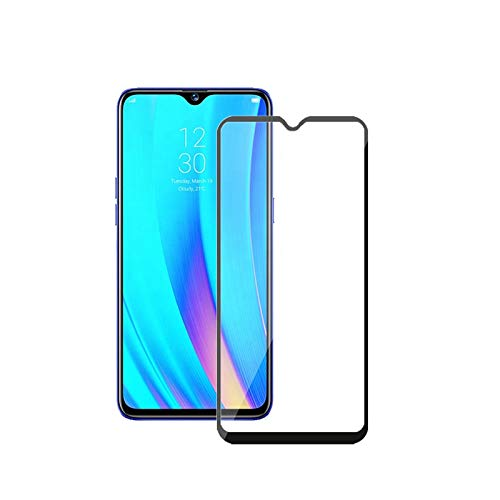 Prime Retail [Anti Glare] [Scratch Proof] Full Coverage 5D Tempered Glass for Realme 3i - Black