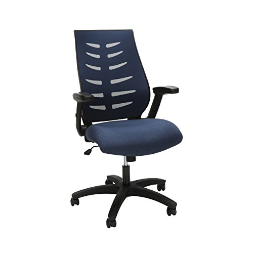 OFM 530 Mesh Office Chair for Computer Desk, Mid Back, Blue