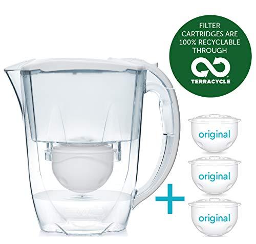 Paquete de 6 meses Aqua Optima - Jarra de filtro de agua Oria con 3x cartuchos de filtro de agua de 60 días