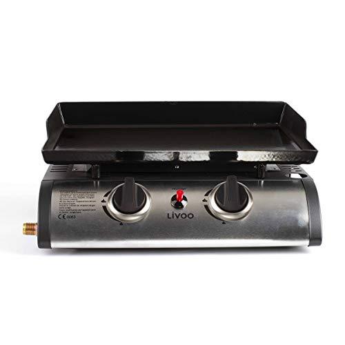 4. Be Nomad DOC150 – Plancha de gas con 2 quemadores de acero inoxidable y 5 kW de potencia