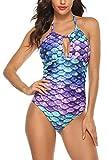 B2prity Women One Piece Swimsuit Tummy Control Swimwear V Neck Bathing...