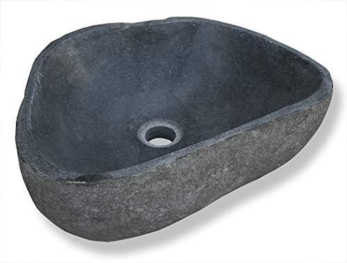 LioLiving®, Waschbecken Stone aus Stein/Findling gefertigt (#400122)