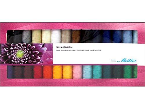 Mettler-Seide Finish Baumwolle Gewinde Geschenk Pack 2, Mehrfarbig