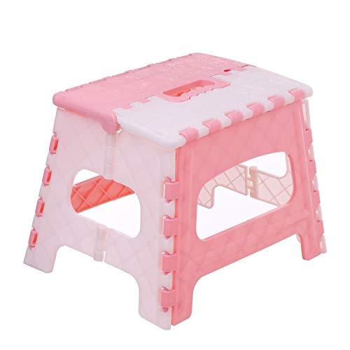 WYGK Paso Taburete Asiento de Silla portátil de Taburete Plegable para baño de baño Cocina Jardín Camping Camping Niños y Adultos Use Asiento de Silla Taburetes (Color : Pink)