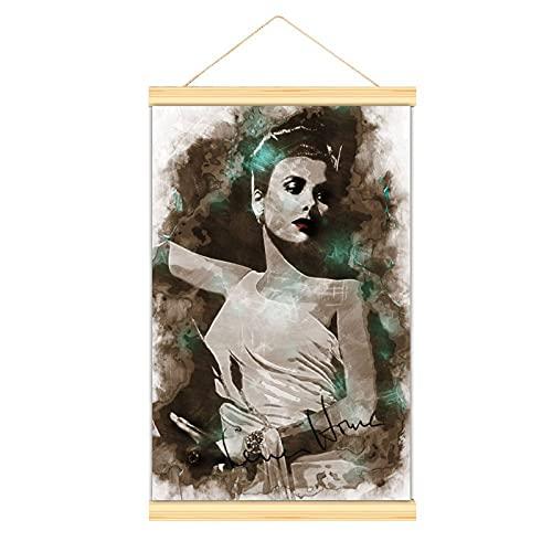 WPQL Lienzo de alta calidad para colgar una imagen Lena Horne moderno lienzo mural mural fácil de instalar carteles decorativos cocina pasillo bar gimnasio