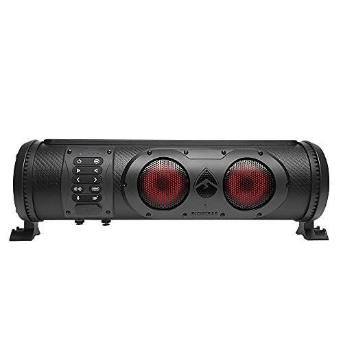ECOXGEAR SoundExtreme SE18 Amplified Powersports Bluetooth 5 Speaker Soundbar Waterproof Sandproof with LED Lighting 300 Watts of Peak Power