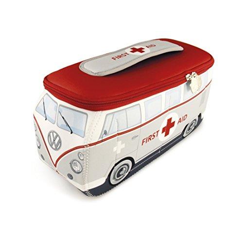 BRISA VW Collection - Volkswagen T1 Bulli Bus 3D Universal-Schmink-Kosmetik-Kultur-Reise-Hausrats-Tasche-Mäppchen-Beutel (First Aid/Neopren)