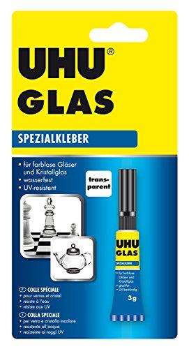 UHU 46685 Spezialkleber Glas, Tube mit 3 g