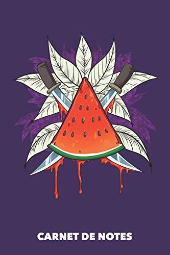 Carnet de Notes: Tranche de melon A5 pointillé / grille de points - 120 pages pour les gens à la mode (violet)