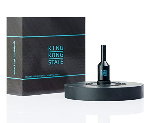 King Kong State Goma de borrar para quitar láminas y pegatinas, disco de borrar negro para taladros inalámbricos