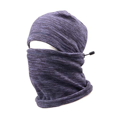 TRIWONDER Balaclava Hood Hat Thermal Fleece Gesichtsmaske Nackenwärmer Winter Ski Maske Full Face Cover Cap (Blau - 17)