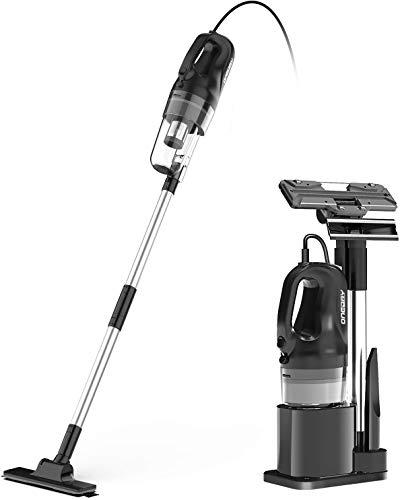 oneday Kabelgebundener elektrischer Besen 6 in 1 Tragbarer Vertikaler Haushaltsstaubsauger, Beutelloses Zyklonhaus mit HEPA-Filter, Zyklontechnologie, 10 m Kabel