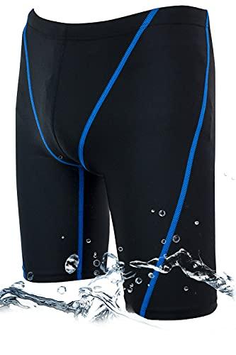 スクール水着 男の子 競泳水着 ボーイズ 競泳用水着 フィットネス 男性 水着 メンズ 競泳 スイムウェア メンズ ジム スイミングウェア 水泳パンツ (ブル―, 150)