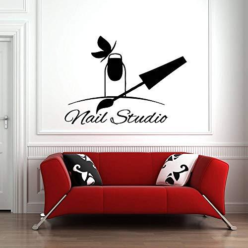 Calcomanía de pared para salón de belleza, salón de uñas, pegatina de pared artística a la moda, esmalte de uñas decorativo, patrón de pedicura y pedicura para uñas