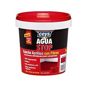 Aguastop ceys M92285 – Impermeabilizante aquastop caucho acrilico con fibras blanco 1 kg