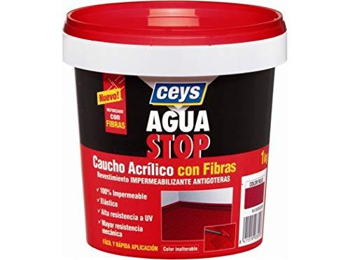 ceys CE903312 AGUASTOP CAUCHO FIBRAS Blanco 1KG