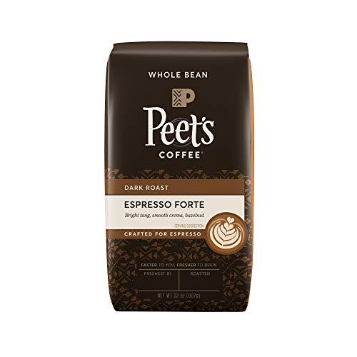 Peet's Coffee Espresso Forte, Dark Espresso Roast Whole Bean Coffee, Espresso Forte, 32 Ounce Bag