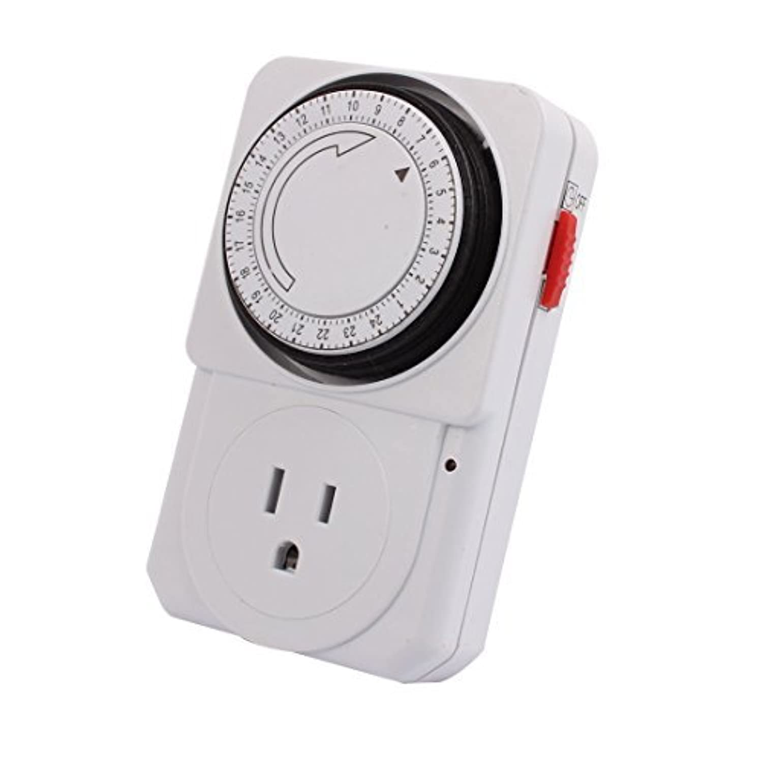 抑止するフェリーボウリングDealMux 110-125V 1800W US Socket Mechanical Programmable Timer 3 Prong Outlet 24 Hours For Household Appliances