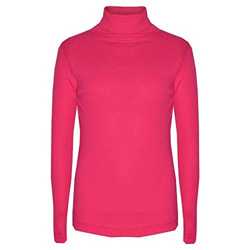 A2Z 4 Kinder® Kinder Mädchen POLO NECK T-Shirt RIBBED Baumwolle POLO ROLL NECK JUMPER Lange Ärmel TOP Alter 2-13 YAERS