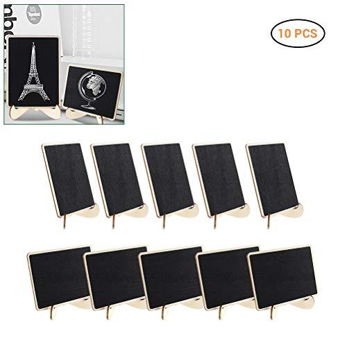 12PCS Suspension Tableau double face Mini Tableau Noir Fête Message Board Signes