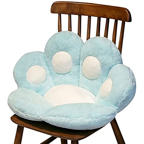 Atraerte Lindo sofá de pata de gato, cojín cómodo para el hogar, dormitorio, oficina, cojín cómodo y agradable al tacto, silla de oficina con patas de oso, color azul