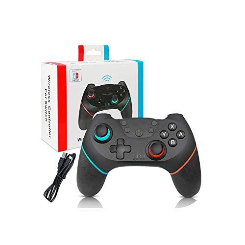Contrôleur de jeu extra durable |Contrôleur de jeu sans fil pour contrôleur de console de manette de jeu Bluetooth pour Ns Compatible avec l'hôte de commutateur-gauche bleu droite rouge-