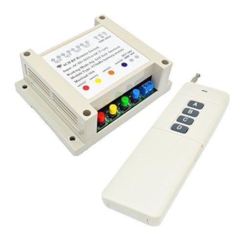 SDENSHI Casa Inteligente Del Receptor Del Transmisor Del Interruptor de Control Remoto Inalámbrico de 4 Canales RF
