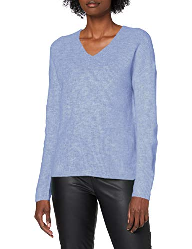 ONLY Damen Onlcamilla V-neck L/S Knt Noos Pullover, Skyway, M EU
