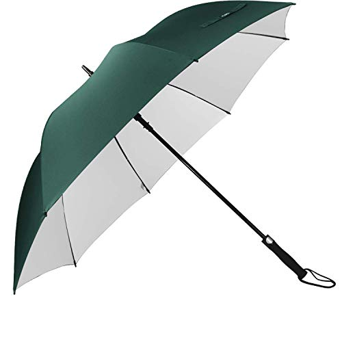 G4Free 62 Inch Automatic Open Golf Umbrella Sun Protection Large Oversize Windproof Waterproof Stick Umbrellas(Dark Green)