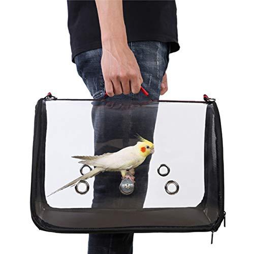 Youngshion Transporttasche für Papageien, leicht, transparent, mit Schultergurt und Holzstange