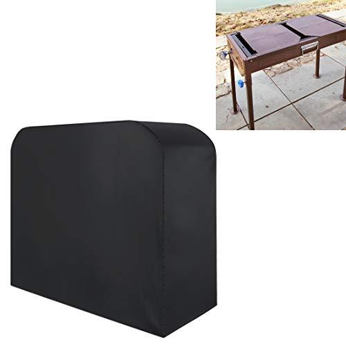 Portable Sac de rangement anti-UV étanche anti-poussière 210D Oxford Tissu pliant BBQ Housse de protection extérieure de gaz au charbon électrique Barbecue Grill Couverture, Taille: 145 * 61 * 117cm (