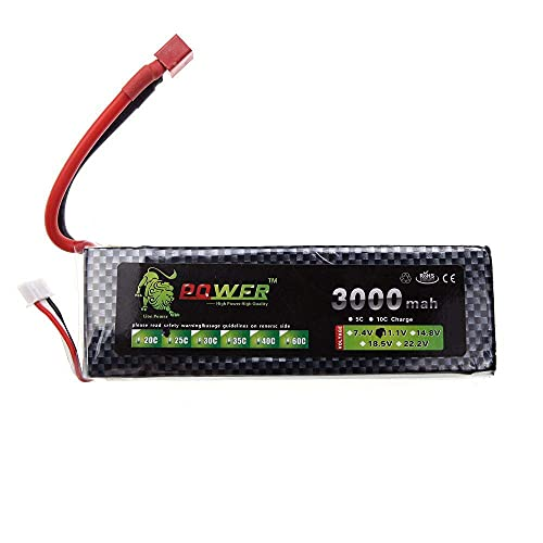 WANGYOUCAO Lion Power Lipo batería 11,1 V 3000 Mah 25C MAX 40C T Enchufe para dji Phantom F450 Alinear Trex 450 RC Coche Barco avión batería