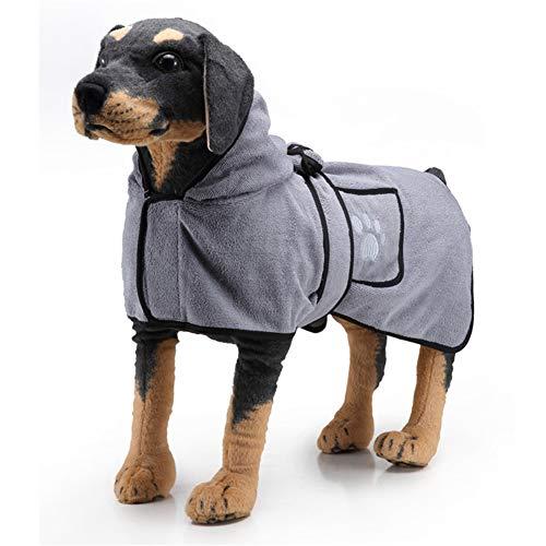 Conocimos Hunde-Bademantel mit Kapuze, Gürtel, weicher Hunde-Bademantel und super...