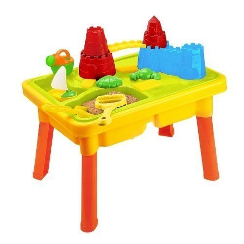 Sandbox Castle 2-in-1 Sand and Water Table with Beach Play Set for Kid...
