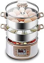 WHSS Bouillure à œufs Chaudières électriques Multifonctions 3 Couches Rapides cuisinière à Vapeur à Vapeur Poacher Capacit...