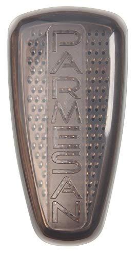 Fackelmann Parmesanreibe- und Frischebox, Parmesanhobel, Käsereibe mit Servier-Behälter (Farbe: Transparent/Grau), Menge: 1 Stück