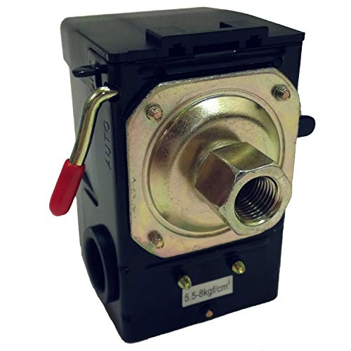 Deurreli 0.8Mpa エアーコンプレッサー 圧力 スイッチ エア漏れ 補修 調整 修理 交換用 (1ポート)