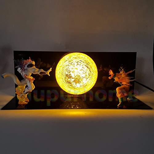 Luces de noche LED Dragon Ball Z Son Goku VS Freezer Lámpara de mesa Anime Dragon Ball Z DBZ Son Goku Lámpara Led Decoración de Navidad