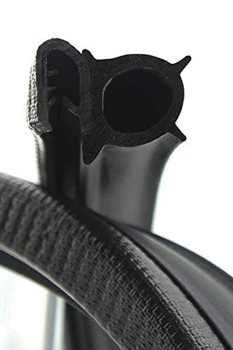 DS14 Dichtungsprofil von SMI-Kantenschutzprofi - Klemmbereich 4-6mm - mit seitlicher Dichtung aus EPDM Moosgummi - Klemmprofil aus weich PVC - einfache Montage, selbstklemmend ohne Kleber (5 m)