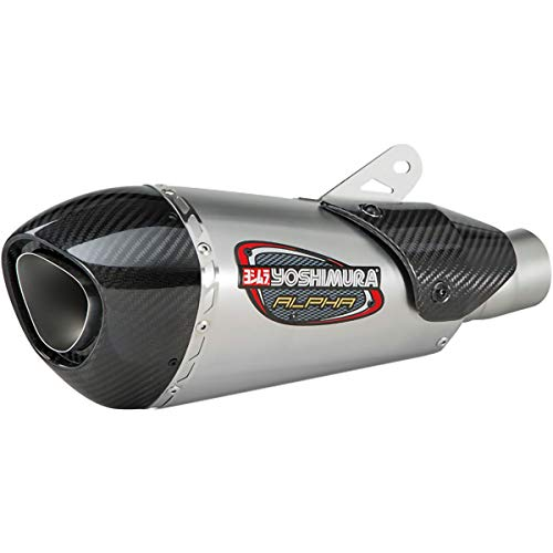 Yoshimura Alpha T 3/4 System Exhaust (Street/Stainless Steel/Stainless Steel/Carbon Fiber/Works Finish) Compatible with 19 Kawasaki ZX636