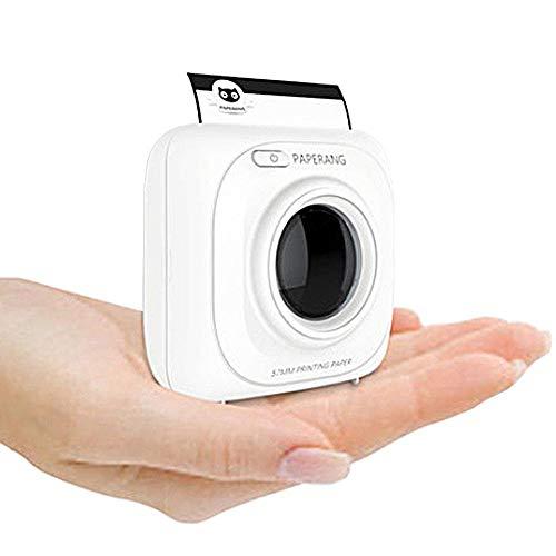 Witte draadloze mini-zakprinter, papieren fotoprinter, draagbare mobiele bluetooth-printer voor Android- en iOS-apparaten
