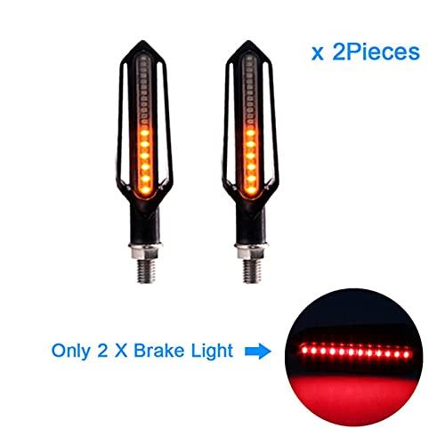 XWSQ Indicadores LED de Luces para Yamaha Fz1 Fazer FZ8 XJ6 FZ6 MT-09 FZ-09 MT07 MT-07 Motocicleta Motocicleta Luces de señal de Giro Que Fluye Parpadeo Parpadeo (Color : 2 Pieces Red)